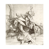 St Christopher Carrying the Christ Child Giclee Print by Lucas van Leyden