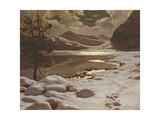 Moonlight in Winter Giclee Print by Ivan Fedorovich Choultse