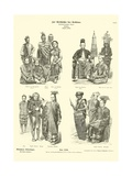 Costumes of Indonesia, 1880 Giclee Print