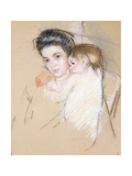Mother and Nude Child Giclee Print by Mary Stevenson Cassatt