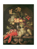 Still Life with a Lobster Giclee Print by Joris van Son