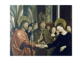Marriage of Virgin, 1495-1498 Giclee Print by Michael Pacher