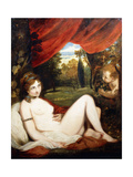 Venus and Cupid, or 'The Wanton Bacchante' Giclee Print by Sir Joshua Reynolds