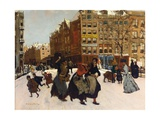 Winter in Amsterdam, C.1898 Giclee Print by Georg-Hendrik Breitner