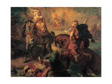 Rider Fight Between Arab Tribe Princes, 1852 Giclee Print by Theodore Chasseriau