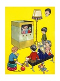 The Boy Who Wanted to Be on Television Giclee Print by Jesus Blasco