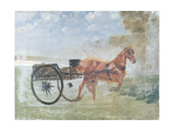 Charrette' with Horse Giclee Print by Giuseppe De Nittis