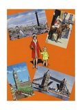 Visiting London in the 1960s Giclee Print by Jesus Blasco
