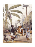 The Village Barber, 1842 Giclee Print by William Tayler