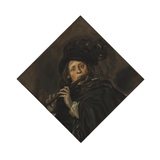Young Man Playing a Flute Giclee Print by Frans Hals