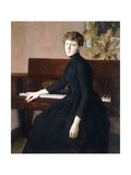 At the Piano Giclee Print by Julian Alden Weir