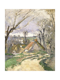 The Cottages of Auvers, 1872-73 Giclee Print by Paul Cézanne