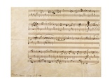 Score for Mazurka in C Sharp Giclee Print by Frederic Chopin