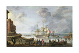 Ships Arriving in a Port Giclee Print by Adam Willaerts