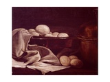 Still Life Showing Brie Cheese Giclee Print by Francois Bonvin