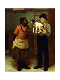The New Puppy Giclee Print by John George Brown