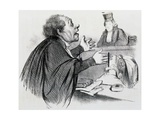 The Lawyer, Caricature Reproduction procédé giclée par Honore Daumier