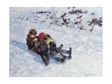 Sledging III Giclee Print by Paul Gribble