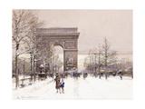 L'Arc De Triomphe Giclee Print by Eugene Galien-Laloue