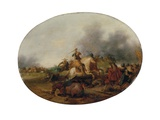 A Cavalry Skirmish with a Fallen Horse, 1637 Giclee Print by Palamedes Palamedesz