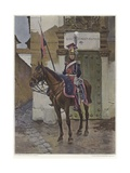 A Guard on Horseback Giclee Print by Francois Flameng
