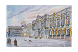 View of Catherine Palace, Built 1751-56, Pushkin Giclee Print
