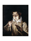 A Boy Lighting a Candle Giclee Print by El Greco