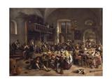 Feast in Inn, 1674 Giclee Print by Jan Havicksz. Steen