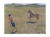 Schooling the Pony, 1929 Giclee Print by Sir John Lavery