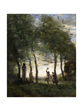 Small Bacchanale, 1874 Giclee Print by Jean Baptiste Camille Corot