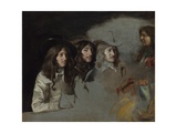 Three Men and a Boy Giclee Print by Louis Le Nain
