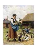 In the Farmyard Giclee Print by Julien Dupre