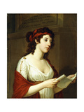 Portrait of a Lady as Sappho Giclee Print by Elisabeth Louise Vigee-LeBrun