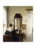 Interior with a Seated Woman by a Window Giclee Print by Carl Holsoe