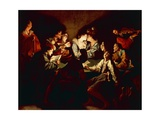 Nocturnal Concert, C.1621/2 Giclee Print by Jean Leclerc