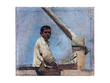 Small Portrait of the Son Jacques Giclee Print by Giuseppe De Nittis