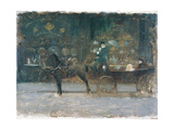 Carriage Ride Giclee Print by Giuseppe De Nittis