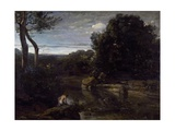 A Pastor Bathing Giclee Print by Jean-Baptiste-Camille Corot