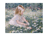 Picking Daisies Giclee Print by Paul Gribble