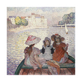 Three Girls in a Boat Giclee Print by Henri Lebasque