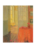 The Red Table Cloth, Versailles, C.1931 Giclee Print by Henri Eugene Augustin Le Sidaner