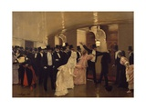 Argument in Corridors of Opera Giclee Print by Jean Béraud