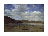 On the Banks of the Po River Giclee Print by Demetrio Cosola