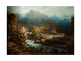The Mountains of Vietri Giclee Print by Philip Reinagle