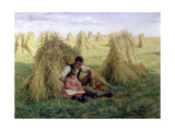 The Story of Ruth and Boaz, 1894 Giclee Print by Frank Topham