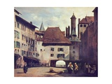 La Place Du Molard Giclee Print by Richard Parkes Bonington