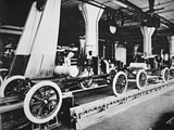 Ford Model T Motor Car During Manufacture, C.1913 Photographic Print