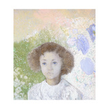 Portrait of Genevieve De Gonet as a Child, 1907 Giclee Print by Odilon Redon