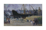 Dock at Rouen, C.1930 Giclee Print by Maximilien Luce