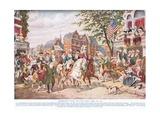 Washington Enters New York, C.1910 Giclee Print